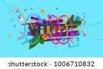 modern design trendy 3d... | Shutterstock . vector #1006710832