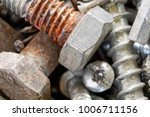 close up of old oxidized metal... | Shutterstock . vector #1006711156