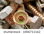 close up of old oxidized metal... | Shutterstock . vector #1006711162