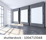 bright concrete room with empty ... | Shutterstock . vector #1006715068