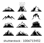 vector mountains icons isolated ... | Shutterstock .eps vector #1006715452