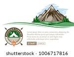 vector mountain and outdoor... | Shutterstock .eps vector #1006717816