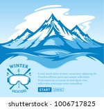 vector winter vacations... | Shutterstock .eps vector #1006717825