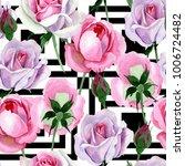 wildflower tender pink rose... | Shutterstock . vector #1006724482