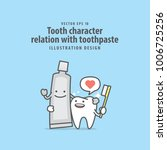 tooth character relation with... | Shutterstock .eps vector #1006725256