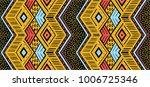 ikat geometric folklore... | Shutterstock .eps vector #1006725346
