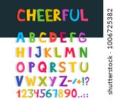 vector funny comics font. hand... | Shutterstock .eps vector #1006725382