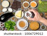 food rich in vitamin b2.... | Shutterstock . vector #1006729012