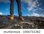 female legs in black pants and... | Shutterstock . vector #1006731382