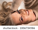 young beautiful blonde woman... | Shutterstock . vector #1006734586