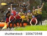 Team Building Raft Water White...