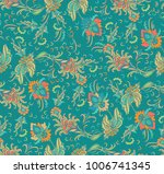seamless vector floral pattern... | Shutterstock .eps vector #1006741345