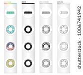 multicolored swimming circle...   Shutterstock .eps vector #1006741942
