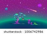 pixel art story about aliens... | Shutterstock .eps vector #1006742986