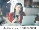 freelance girl at work   Shutterstock . vector #1006746808