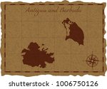 ancient map with antigua and... | Shutterstock .eps vector #1006750126