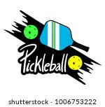 pickle ball racket illustration | Shutterstock .eps vector #1006753222