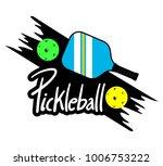 pickle ball racket illustration | Shutterstock .eps vector #1006753222