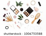 professional makeup tools.... | Shutterstock . vector #1006753588