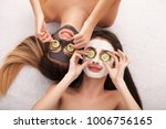 spa. process cosmetic mask of... | Shutterstock . vector #1006756165