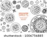 oriental sweets vector... | Shutterstock .eps vector #1006756885