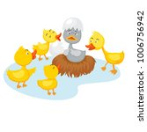 fairy tale ugly duckling vector ...   Shutterstock .eps vector #1006756942