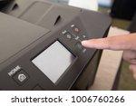 fingers hand press button on...   Shutterstock . vector #1006760266