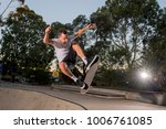 young american man practicing... | Shutterstock . vector #1006761085