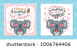 set of greeting cards with... | Shutterstock .eps vector #1006764406