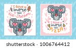 set of greeting cards with... | Shutterstock .eps vector #1006764412