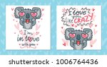 set of greeting cards with... | Shutterstock .eps vector #1006764436
