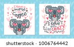 set of greeting cards with... | Shutterstock .eps vector #1006764442