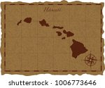 ancient map with hawaii... | Shutterstock .eps vector #1006773646