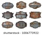 metal sign plate texture... | Shutterstock . vector #1006773922