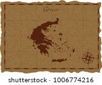 ancient map with greece... | Shutterstock .eps vector #1006774216