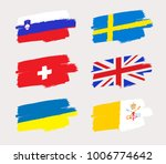 set of world flags in grunge... | Shutterstock .eps vector #1006774642