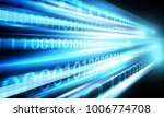 network speed with binary data | Shutterstock .eps vector #1006774708