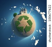 planet of recycling | Shutterstock . vector #100677622