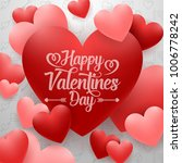 happy valentines day with red... | Shutterstock .eps vector #1006778242
