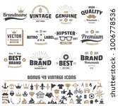 vintage retro vector logo for... | Shutterstock .eps vector #1006778536