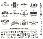 vintage retro vector logo for... | Shutterstock .eps vector #1006778542