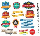 vintage retro vector logo for... | Shutterstock .eps vector #1006778578
