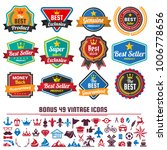 vintage retro vector logo for... | Shutterstock .eps vector #1006778656