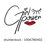 girl power   textile graphic t... | Shutterstock .eps vector #1006780402