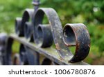 vintage wrought iron gate with... | Shutterstock . vector #1006780876