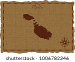 ancient map with malta... | Shutterstock .eps vector #1006782346