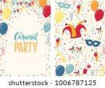 carnival poster. jester hat ...   Shutterstock .eps vector #1006787125