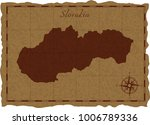 ancient map with slovakia... | Shutterstock .eps vector #1006789336