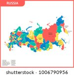 the detailed map of the russia... | Shutterstock .eps vector #1006790956