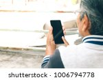 close up hand of old asian... | Shutterstock . vector #1006794778